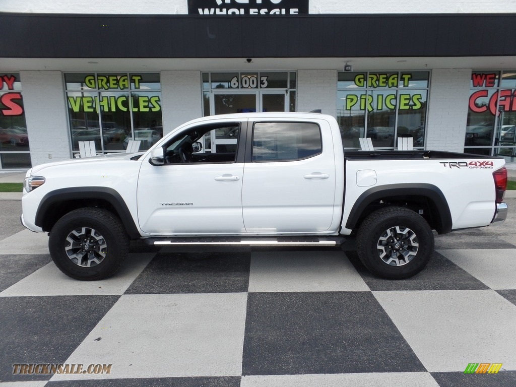 2018 Tacoma TRD Off Road Double Cab 4x4 - Super White / Graphite w/Gun Metal photo #1
