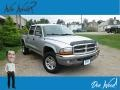 Dodge Dakota SLT Quad Cab 4x4 Bright Silver Metallic photo #1