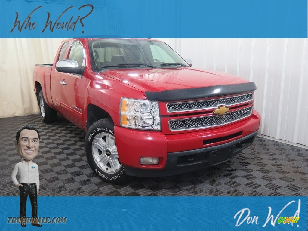 2013 Silverado 1500 LTZ Extended Cab 4x4 - Victory Red / Light Titanium/Dark Titanium photo #1