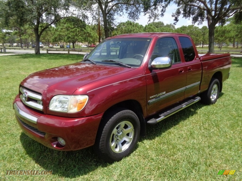 2005 Tundra SR5 Access Cab - Salsa Red Pearl / Light Charcoal photo #1