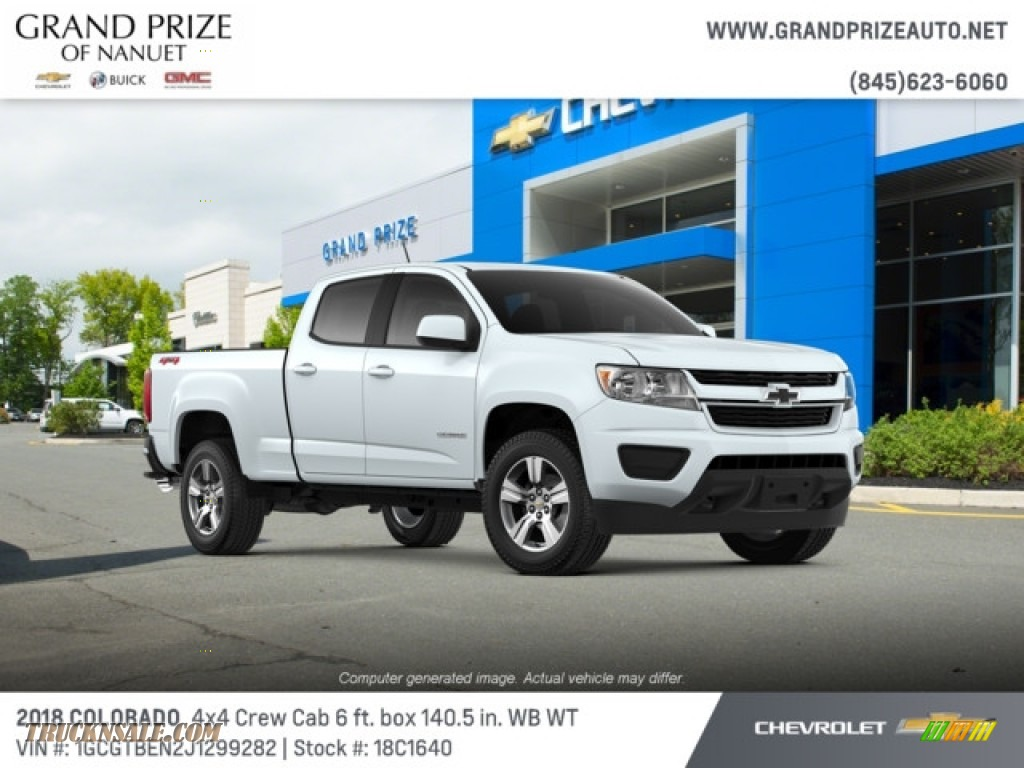 2018 Colorado WT Crew Cab 4x4 - Summit White / Jet Black/Dark Ash photo #1