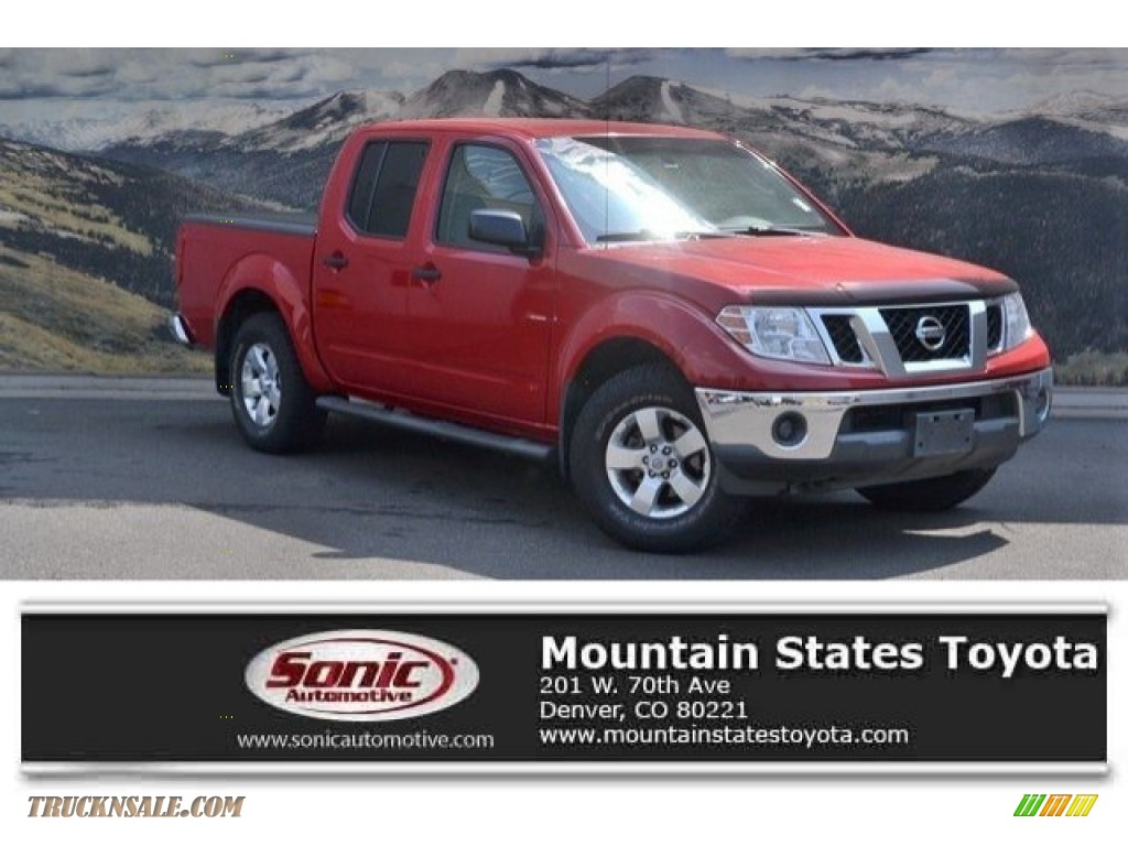 2010 Frontier SE Crew Cab 4x4 - Red Alert / Steel photo #1