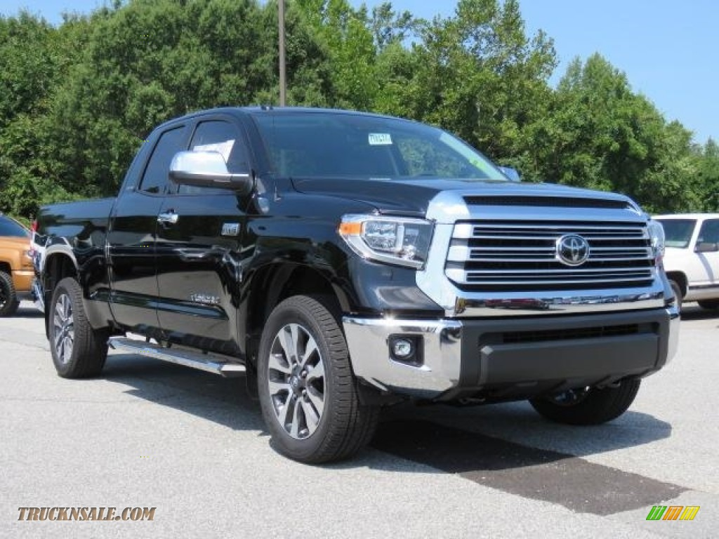 2018 Tundra Limited Double Cab 4x4 - Midnight Black Metallic / Graphite photo #1