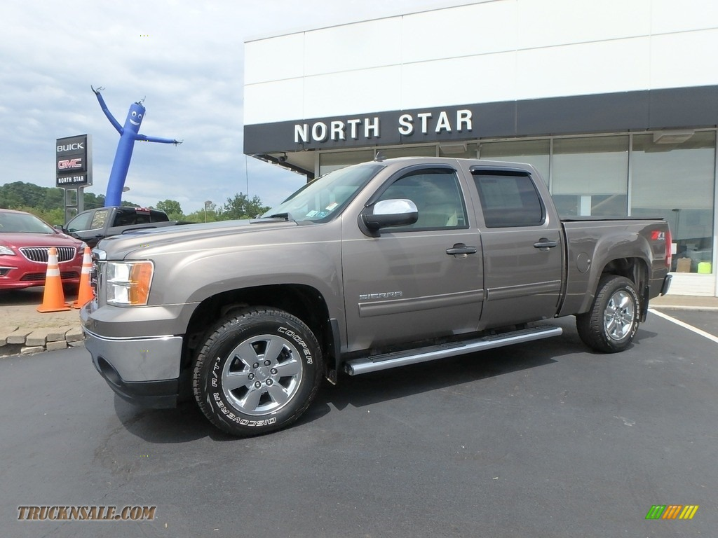 2012 Sierra 1500 SLE Crew Cab 4x4 - Mocha Steel Metallic / Very Dark Cashmere/Light Cashmere photo #1