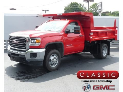 Red 2019 GMC Sierra 3500HD Regular Cab 4WD Dump Truck