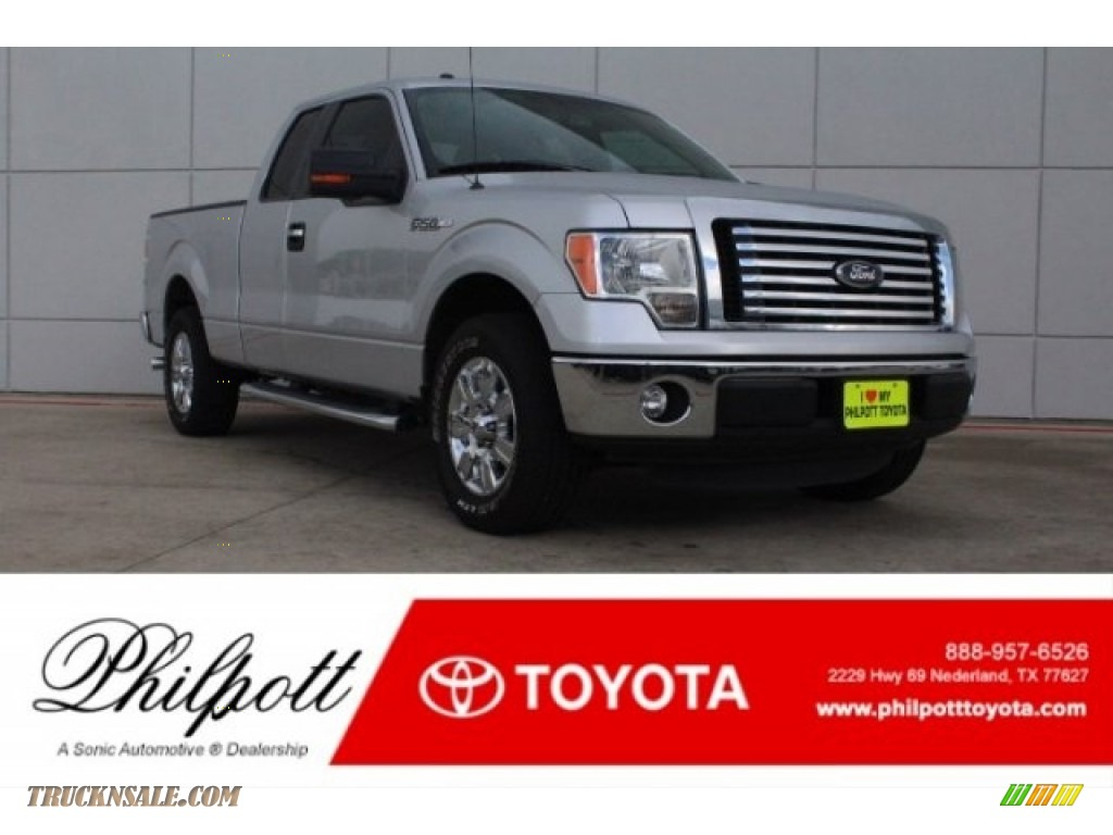2012 F150 XLT SuperCab - Ingot Silver Metallic / Steel Gray photo #1