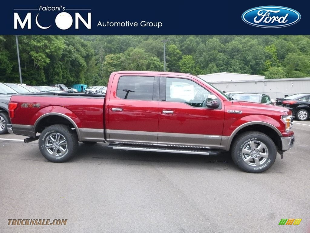 2018 F150 Lariat SuperCrew 4x4 - Ruby Red / Black photo #1