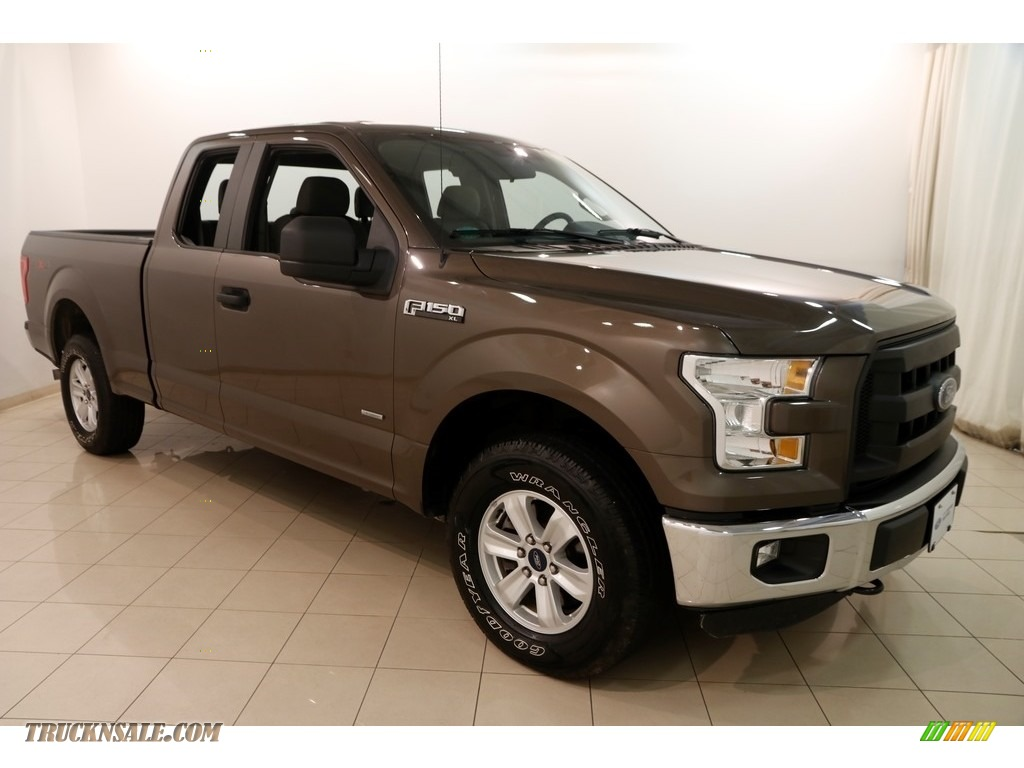 2016 F150 XL SuperCab 4x4 - Caribou / Medium Earth Gray photo #1