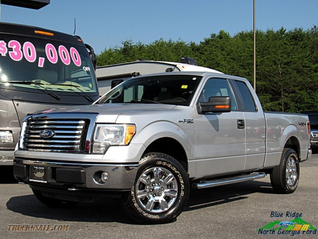2010 F150 XLT SuperCab 4x4 - Ingot Silver Metallic / Medium Stone photo #1