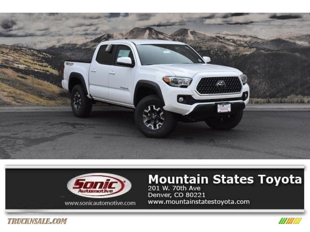 2018 Tacoma TRD Off Road Double Cab 4x4 - Super White / Cement Gray photo #1
