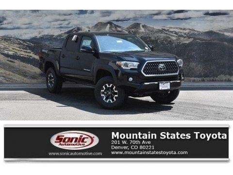 Midnight Black Metallic 2018 Toyota Tacoma TRD Off Road Double Cab 4x4