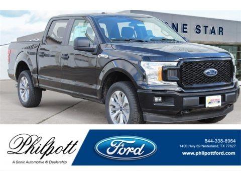 Shadow Black 2018 Ford F150 XL SuperCab 4x4