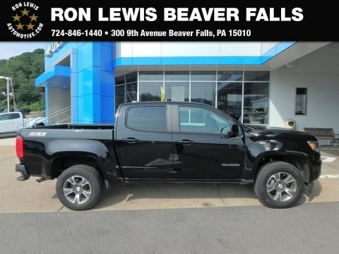 Black 2016 Chevrolet Colorado Z71 Crew Cab 4x4