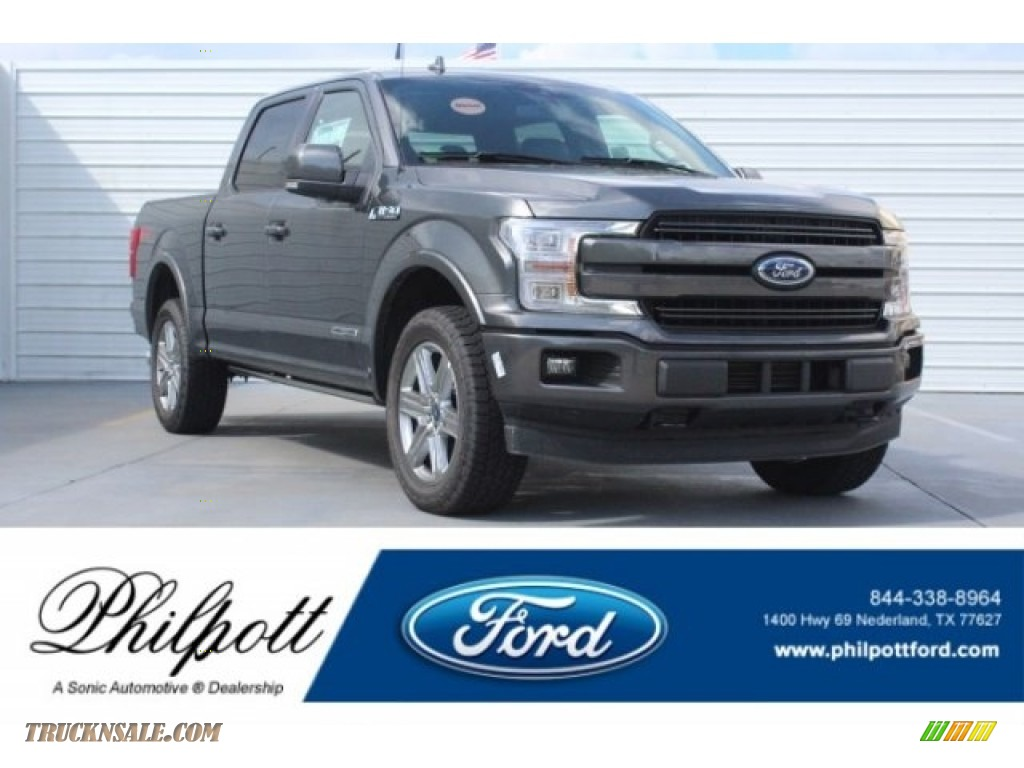2018 F150 Lariat SuperCrew 4x4 - Magnetic / Black photo #1