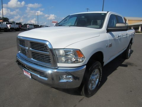 Bright White 2012 Dodge Ram 2500 HD SLT Crew Cab 4x4