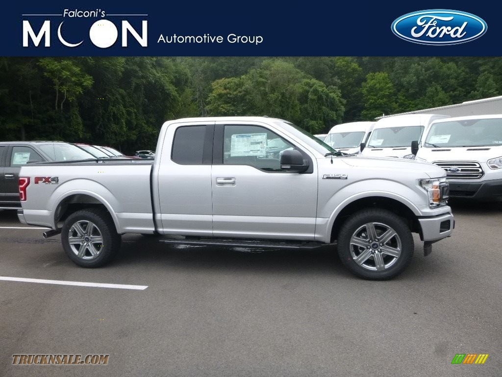 2018 F150 XLT SuperCab 4x4 - Ingot Silver / Black photo #1