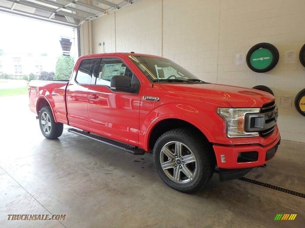 2018 F150 XLT SuperCab 4x4 - Race Red / Black photo #1