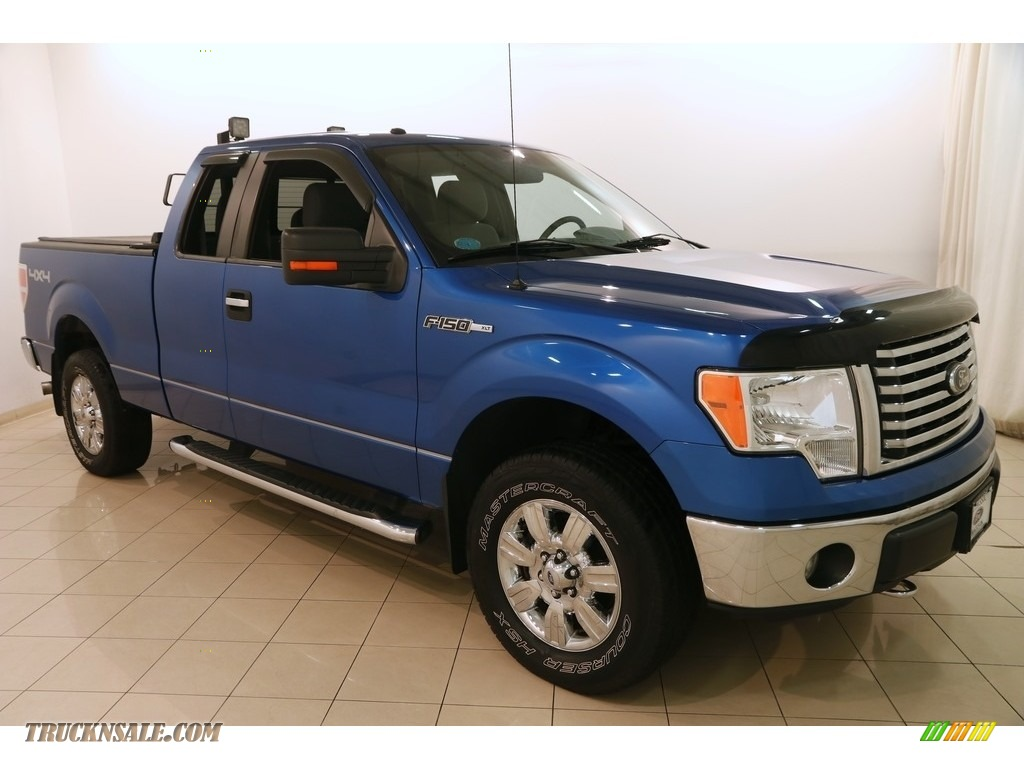 2012 F150 XLT SuperCab 4x4 - Blue Flame Metallic / Steel Gray photo #1