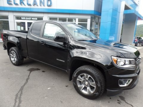 Black 2019 Chevrolet Colorado Z71 Extended Cab 4x4