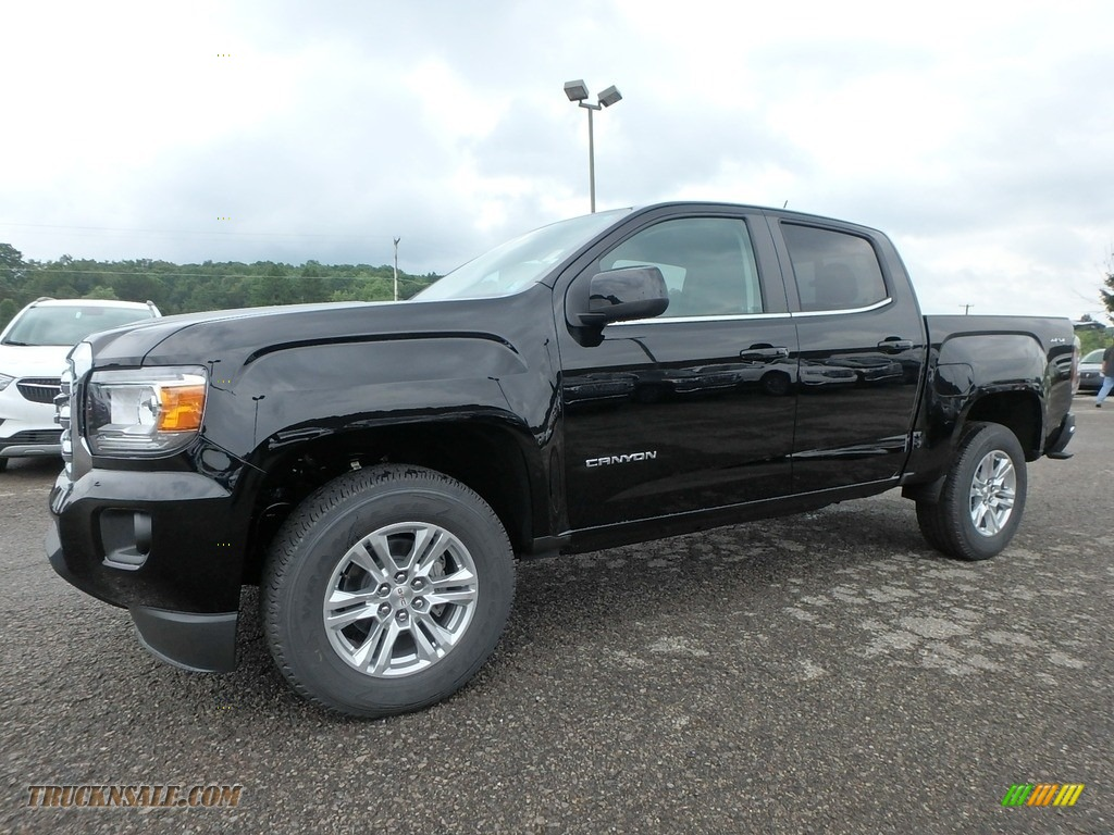 2019 Canyon SLE Crew Cab 4WD - Onyx Black / Jet Black photo #1