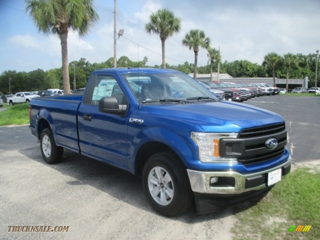 2018 F150 XL Regular Cab - Lightning Blue / Earth Gray photo #1