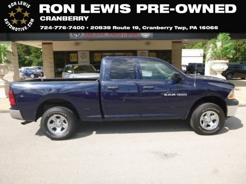 True Blue Pearl 2012 Dodge Ram 1500 ST Quad Cab 4x4