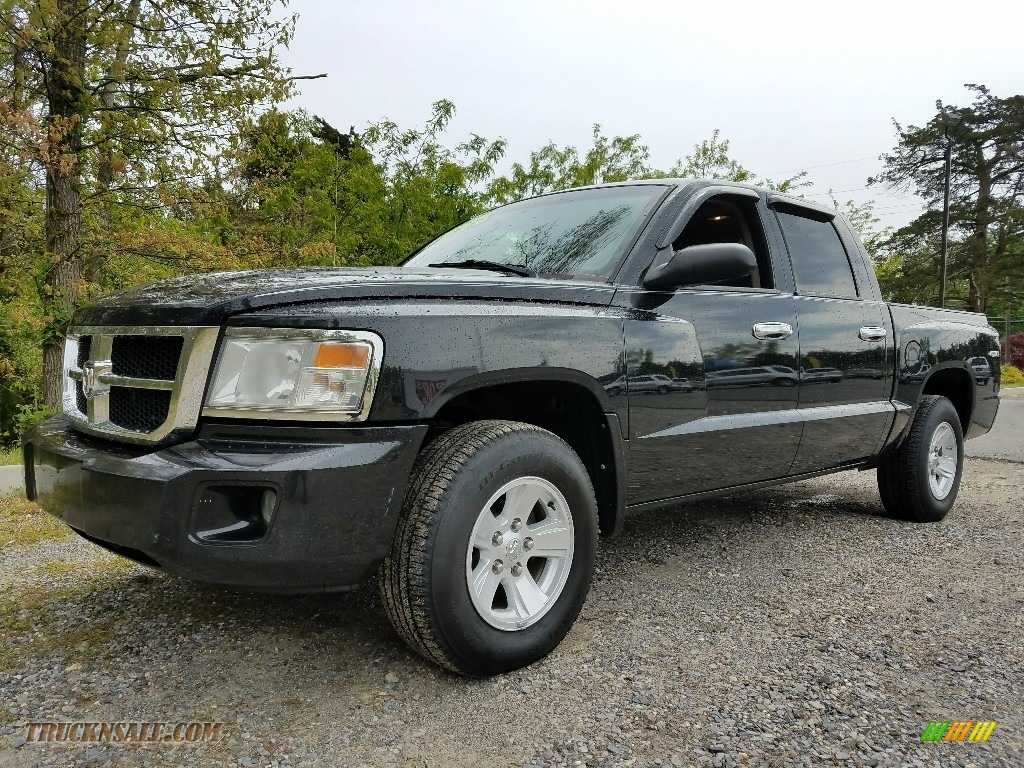Brilliant Black / Dark Slate Gray/Medium Slate Gray Dodge Dakota SLT Crew Cab 4x4