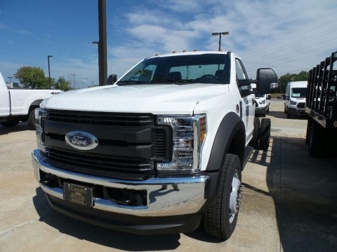 White 2019 Ford F550 Super Duty XL Regular Cab 4x4 Chassis