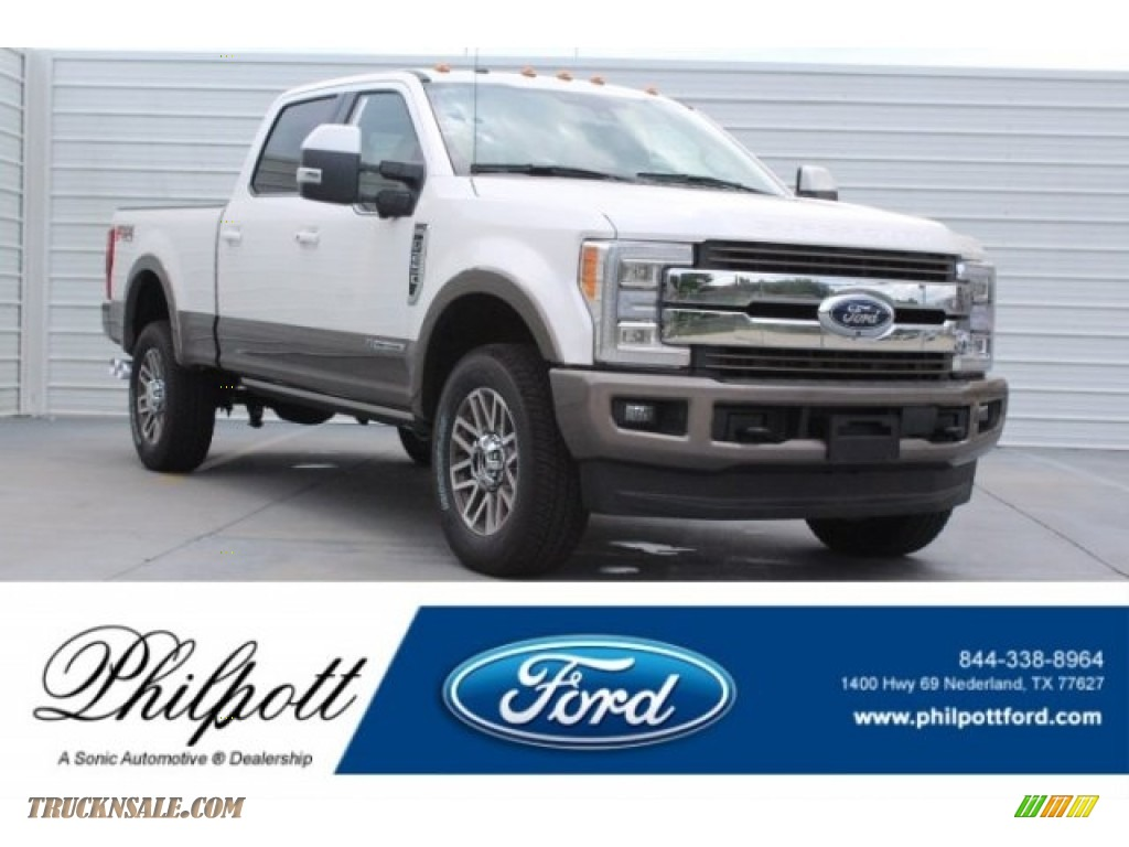 2018 F250 Super Duty King Ranch Crew Cab 4x4 - Oxford White / King Ranch Kingsville Java photo #1