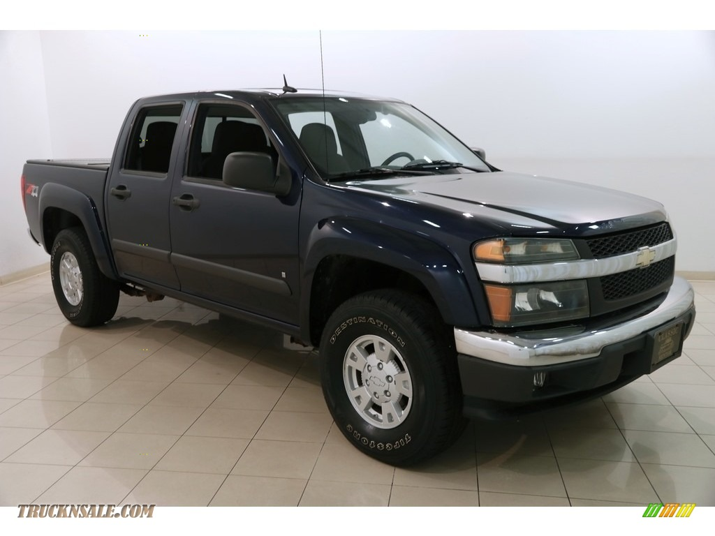2008 Colorado LT Crew Cab 4x4 - Imperial Blue Metallic / Ebony photo #1