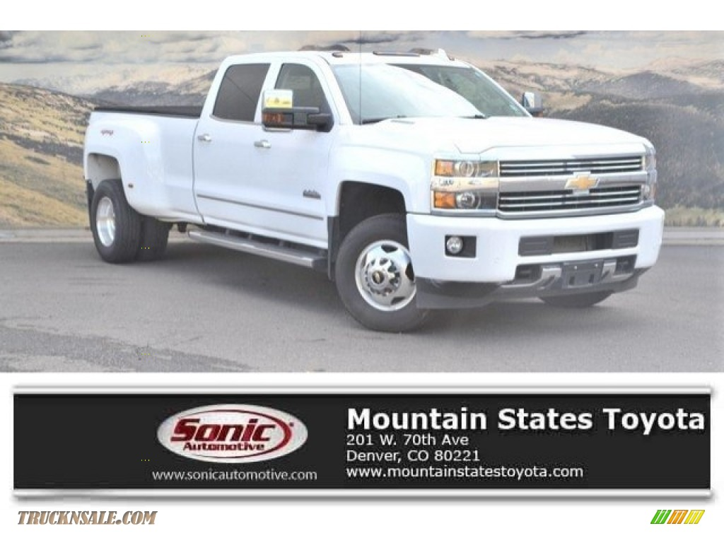 Summit White / High Country Saddle Chevrolet Silverado 3500HD High Country Crew Cab 4x4