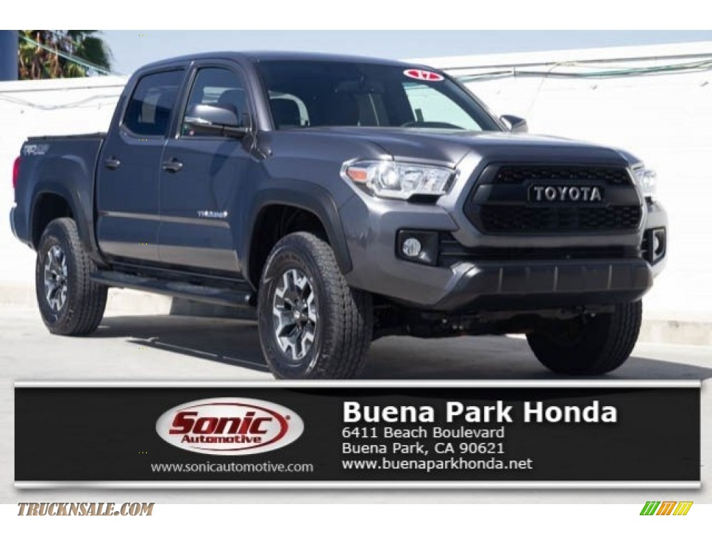 Magnetic Gray Metallic / Cement Gray Toyota Tacoma TRD Off Road Double Cab 4x4
