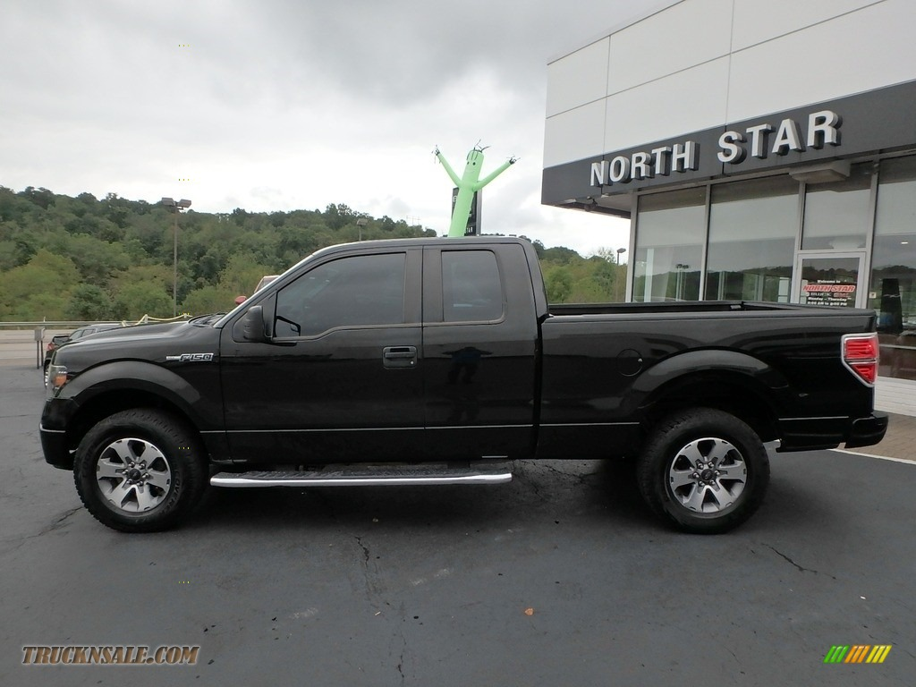 2013 F150 STX SuperCab 4x4 - Tuxedo Black Metallic / Steel Gray photo #14