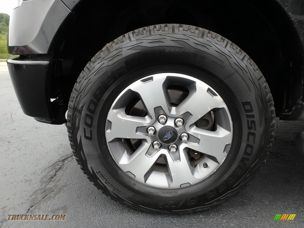 2013 F150 STX SuperCab 4x4 - Tuxedo Black Metallic / Steel Gray photo #15