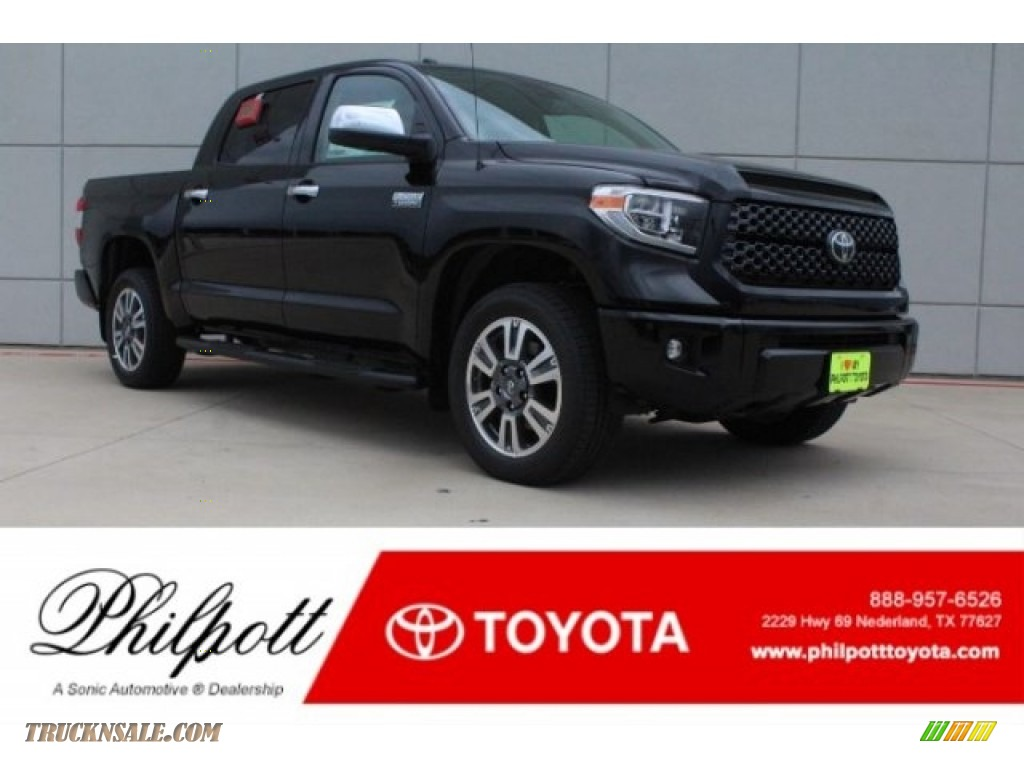 Midnight Black Metallic / Black Toyota Tundra Platinum CrewMax 4x4