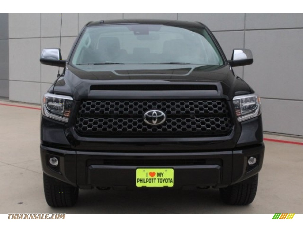 2019 Tundra Platinum CrewMax 4x4 - Midnight Black Metallic / Black photo #2