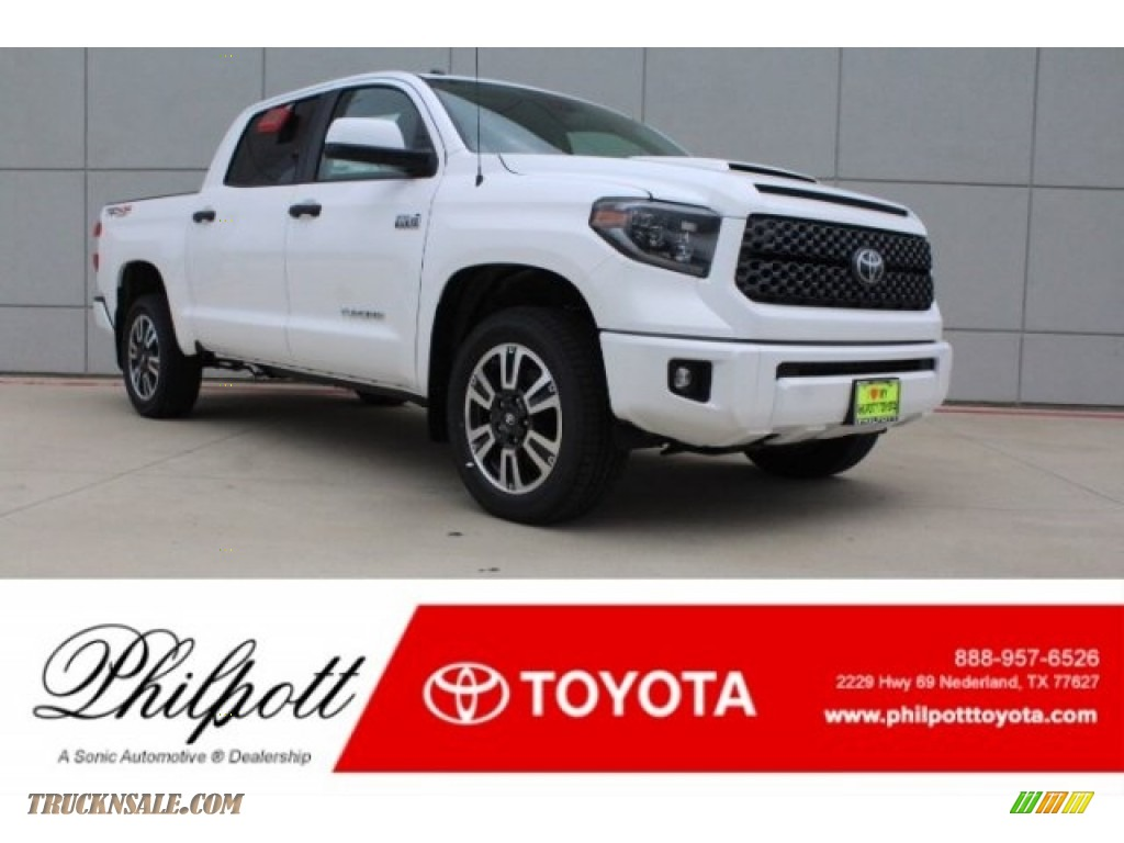 2019 Tundra TRD Sport CrewMax 4x4 - Super White / Graphite photo #1