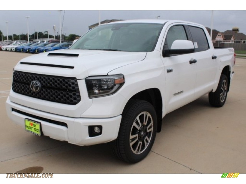 2019 Tundra TRD Sport CrewMax 4x4 - Super White / Graphite photo #3