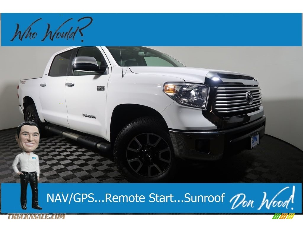 2017 Tundra Limited CrewMax 4x4 - Super White / Graphite photo #1