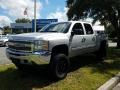 Chevrolet Silverado 1500 LT Crew Cab 4x4 Silver Ice Metallic photo #1