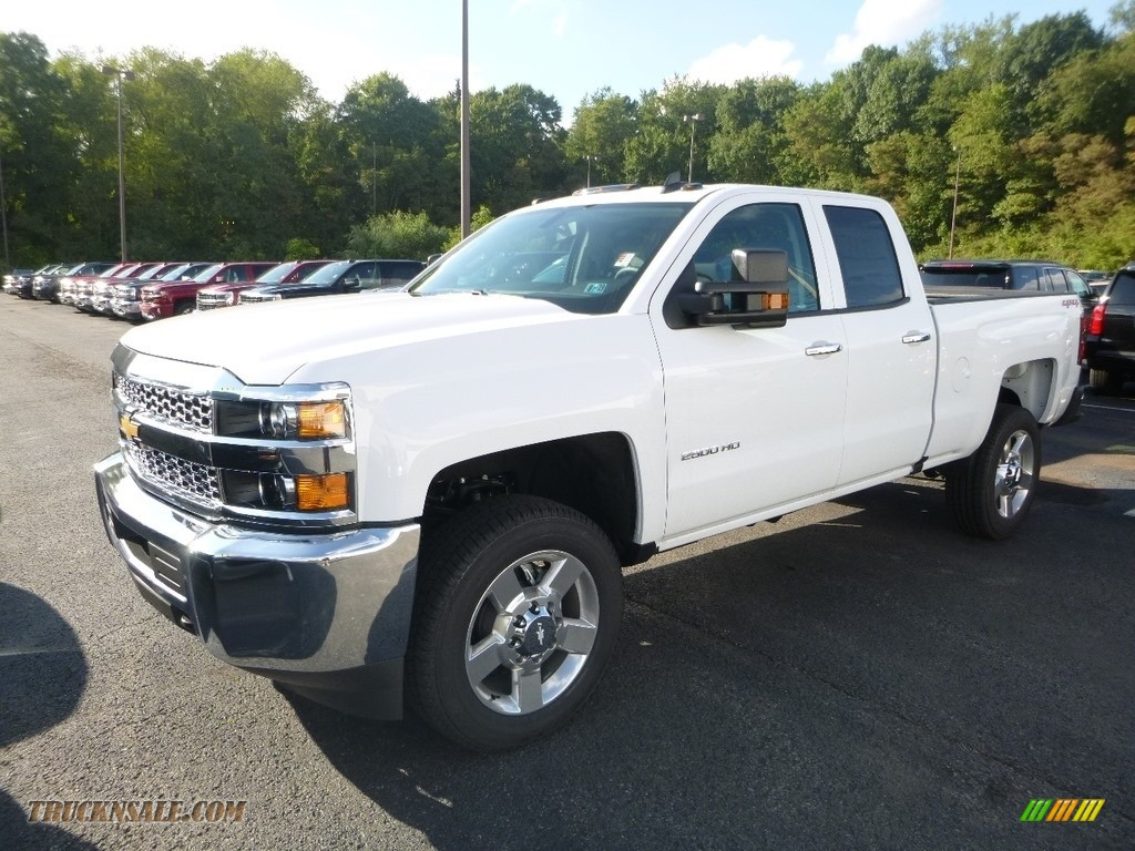 Summit White / Dark Ash/Jet Black Chevrolet Silverado 2500HD Work Truck Double Cab 4WD