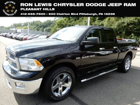 Black 2012 Dodge Ram 1500 SLT Quad Cab 4x4