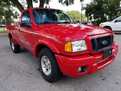 Bright Red 2004 Ford Ranger Edge Regular Cab