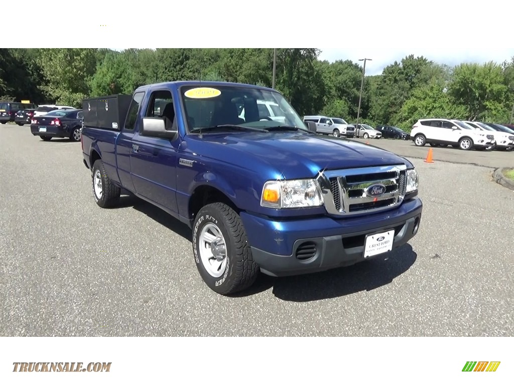 2009 Ranger XLT SuperCab - Vista Blue Metallic / Medium Dark Flint photo #1