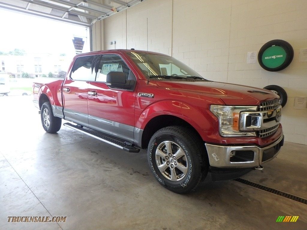 2018 F150 XLT SuperCrew 4x4 - Ruby Red / Earth Gray photo #1