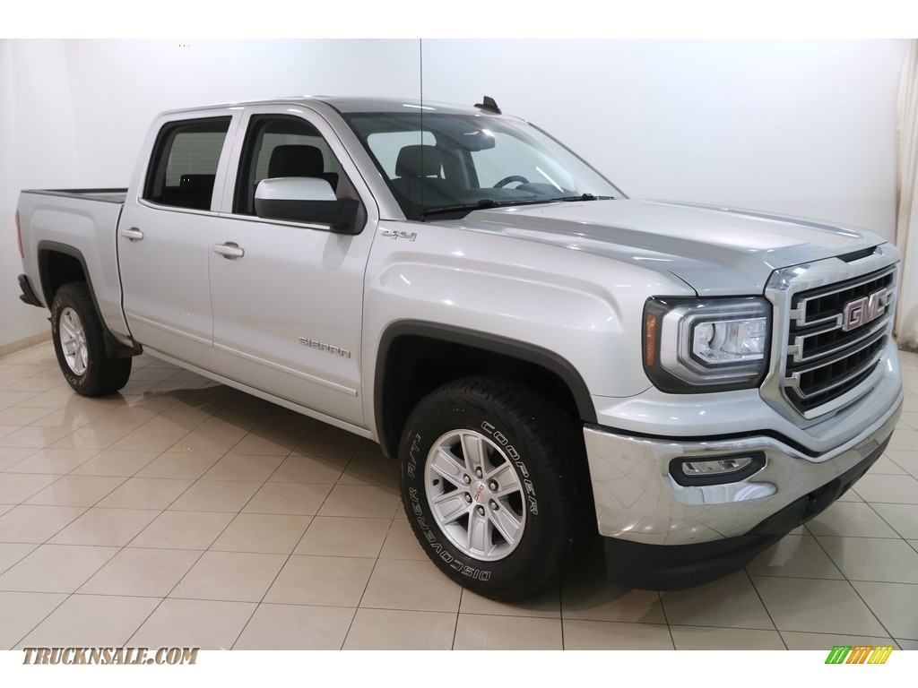 2016 Sierra 1500 SLE Crew Cab 4WD - Quicksilver Metallic / Jet Black photo #1