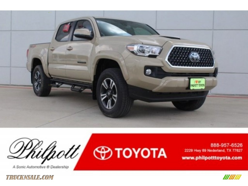 2018 Tacoma TRD Sport Double Cab 4x4 - Quicksand / Graphite w/Gun Metal photo #1