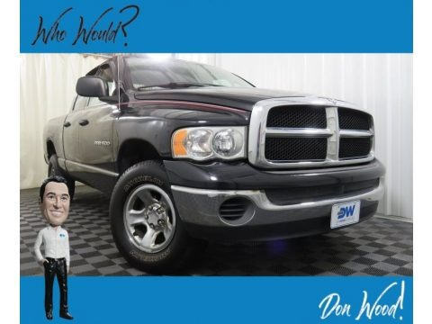 Black 2005 Dodge Ram 1500 SLT Quad Cab 4x4