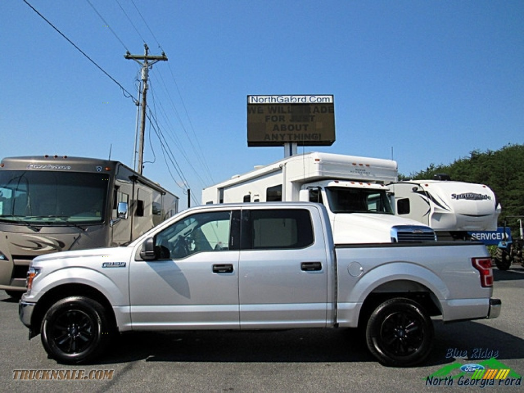 2018 F150 XLT SuperCrew - Ingot Silver / Earth Gray photo #2