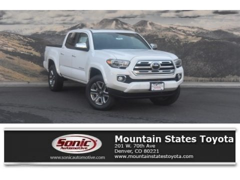 Super White 2019 Toyota Tacoma Limited Double Cab 4x4
